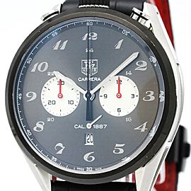 Tag Heuer Carrera CAR2C14 Stainless Steel & Leather Automatic 45mm Mens Sports Watch