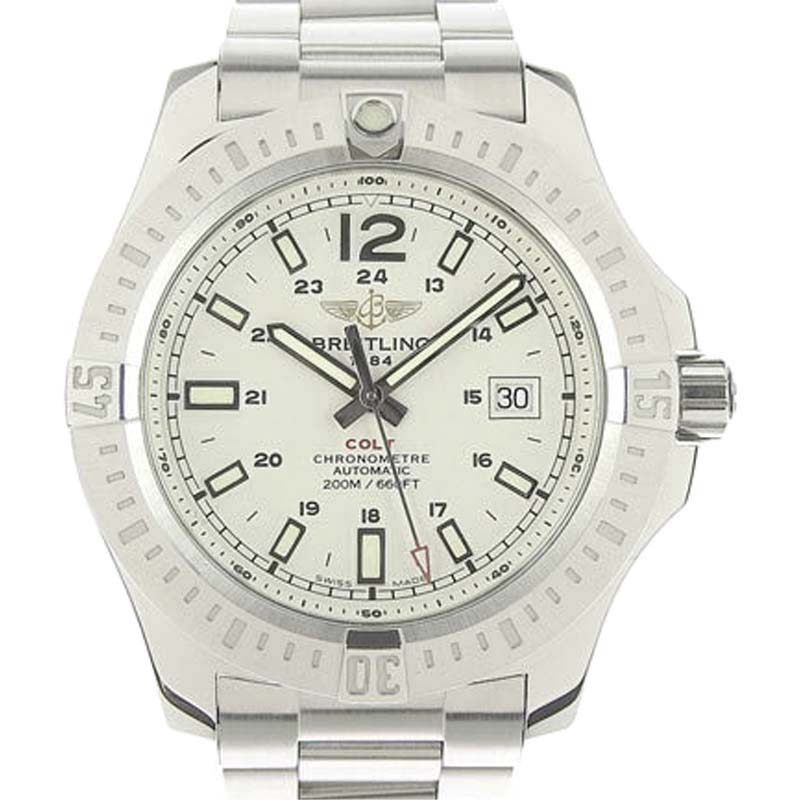 "Image of ""Breitling Colt A17388 Stainless Steel White Dial Automatic 44mm Mens"""