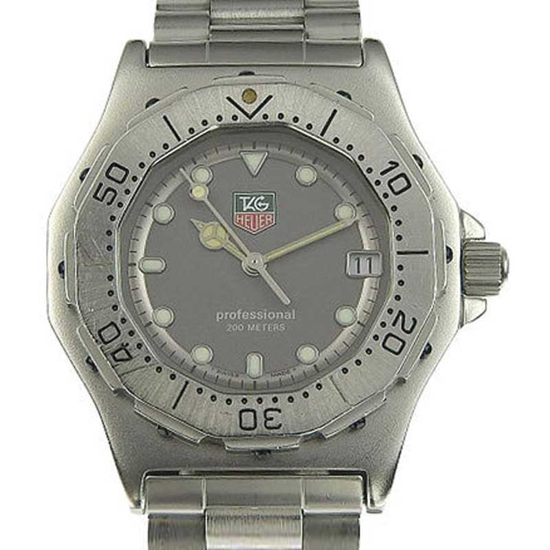 "Image of ""Tag Heuer Professional 932.213 Stainless Steel Gray Dial Quartz 35mm"""