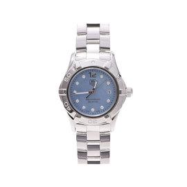 Tag Heuer AquarRacer WAF1419 Stainless Steel Blue Shell Diamond Dial Quartz 27mm Womens Watch