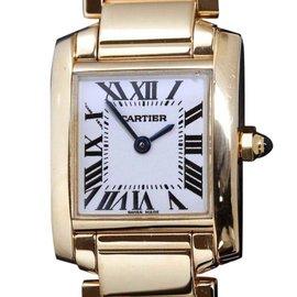 Cartier Tank Francaise W50002n2 Yellow Gold Quartz 20mm Womens Watch