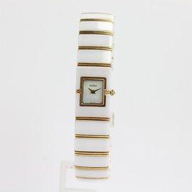 Rado Diastar 963.0425.3 Ceramic & Yellow Gold Quartz 16mm Women Watch