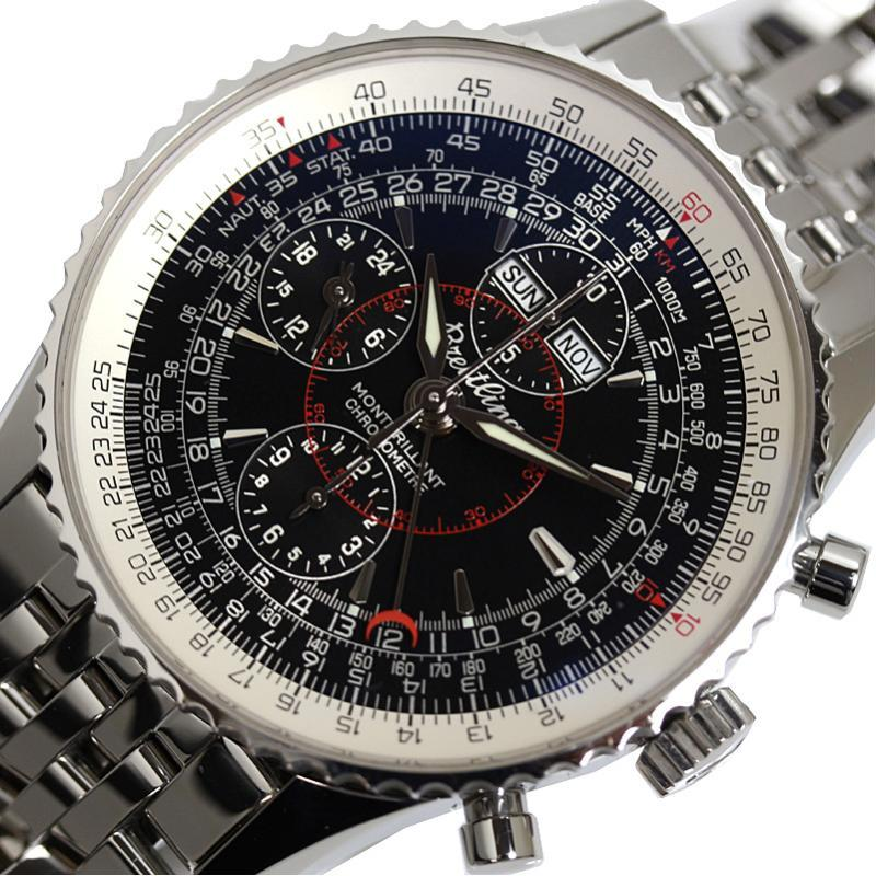 """Image of """"Breitling Montbrillant Dutla A21330 Stainless Steel Automatic 43mm"""""""