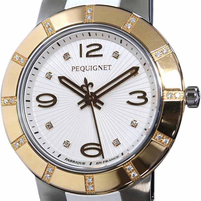"Image of ""Pequignet Odeon 8883439 Cd Stainless Steel Quartz 34mm Womens Watch"""