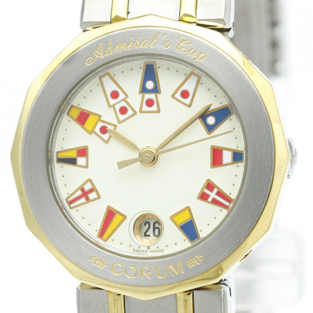 """Image of """"Corum Admirals Cup 39.610.21 Stainless Steel and 18K Yellow Gold 26mm"""""""