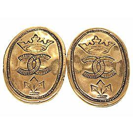 Chanel Gold Tone Hardware Vintage Earrings