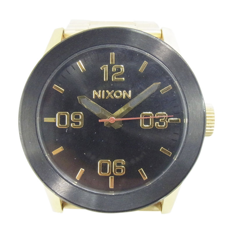 "Image of ""Nixon Bargain Gold Plated Quartz Mens 40mm Watch"""