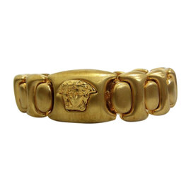 Versace Vintage Gold Tone Hardware Bracelet