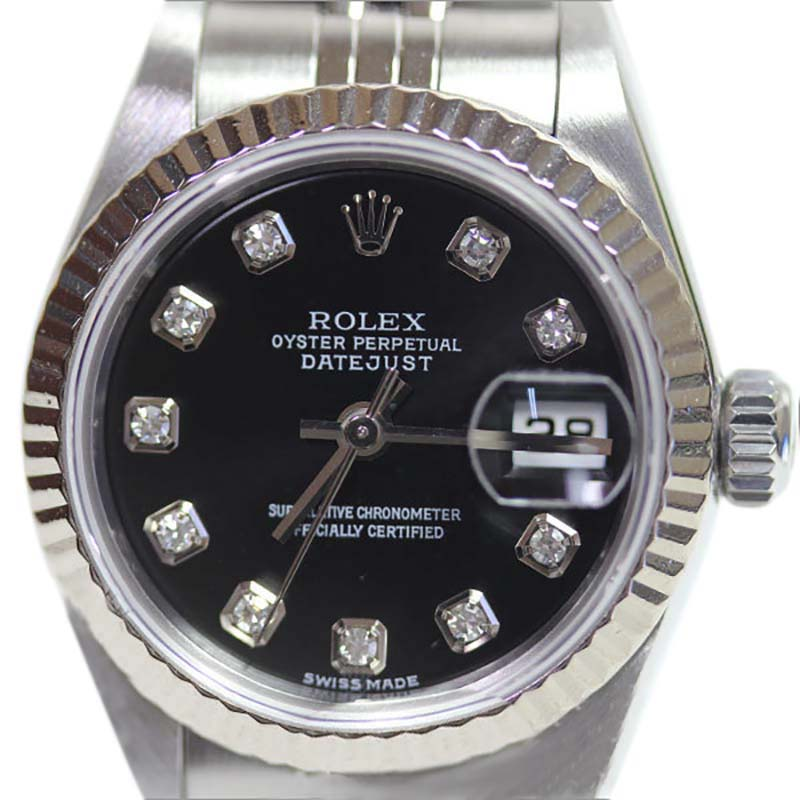 "Image of ""Rolex Oyster Perpetual Datejust 79174G Stainless Steel Black Dial"""
