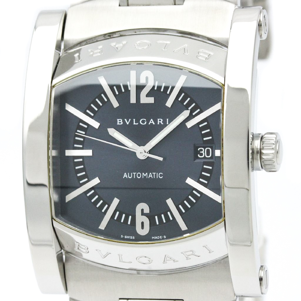 "Image of ""Bulgari Assioma Aa48S Stainless Steel 48mm Mens Watch"""