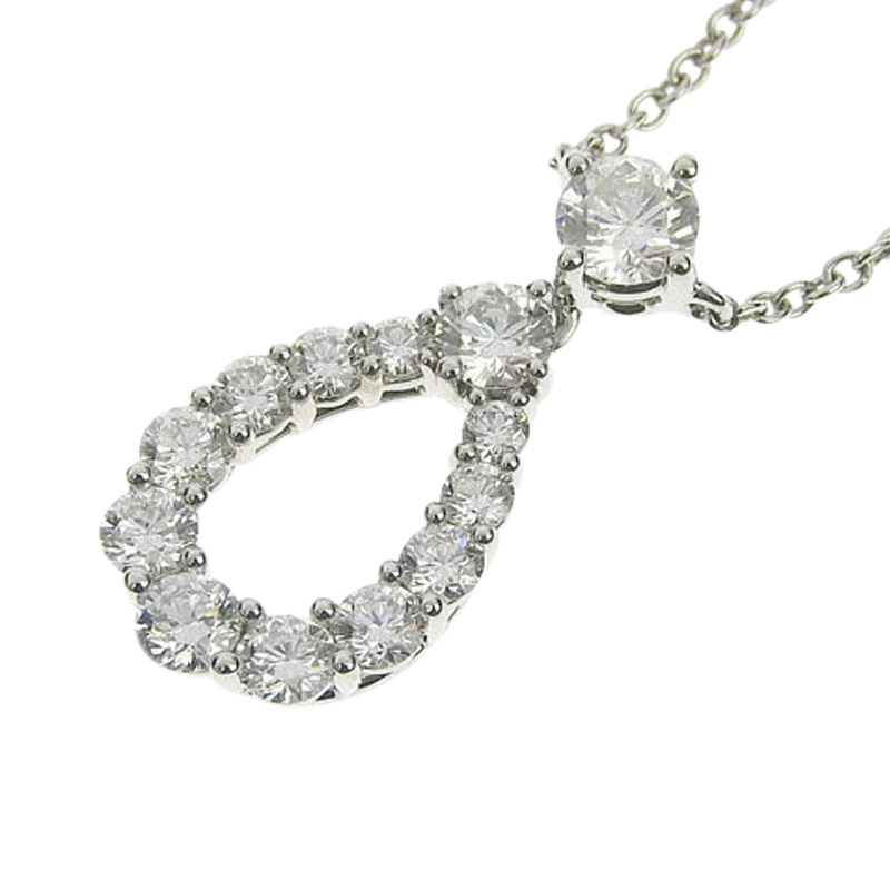"Image of ""Harry Winston 950 Platinum Diamond Pendant Necklace"""