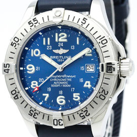 Breitling Superocean A17360 Stainless Steel & Rubber Automatic 41mm Mens Watch