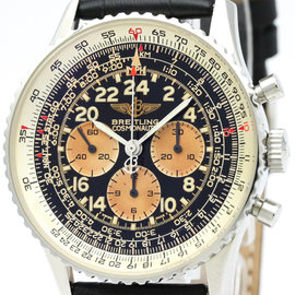 Breitling Navitimer A12023 Stainless Steel & Leather Automatic 41mm Mens Watch