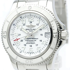 Breitling Superocean II A17312 Stainless Steel White Dial Automatic 36mm Womens Watch