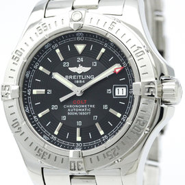 Breitling Colt A17380 Stainless Steel Black Dial Automatic 41mm Mens Watch
