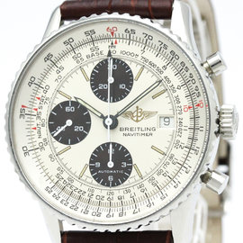 Breitling Navitimer A13019 Stainless Steel & Leather Automatic 41mm Mens Watch