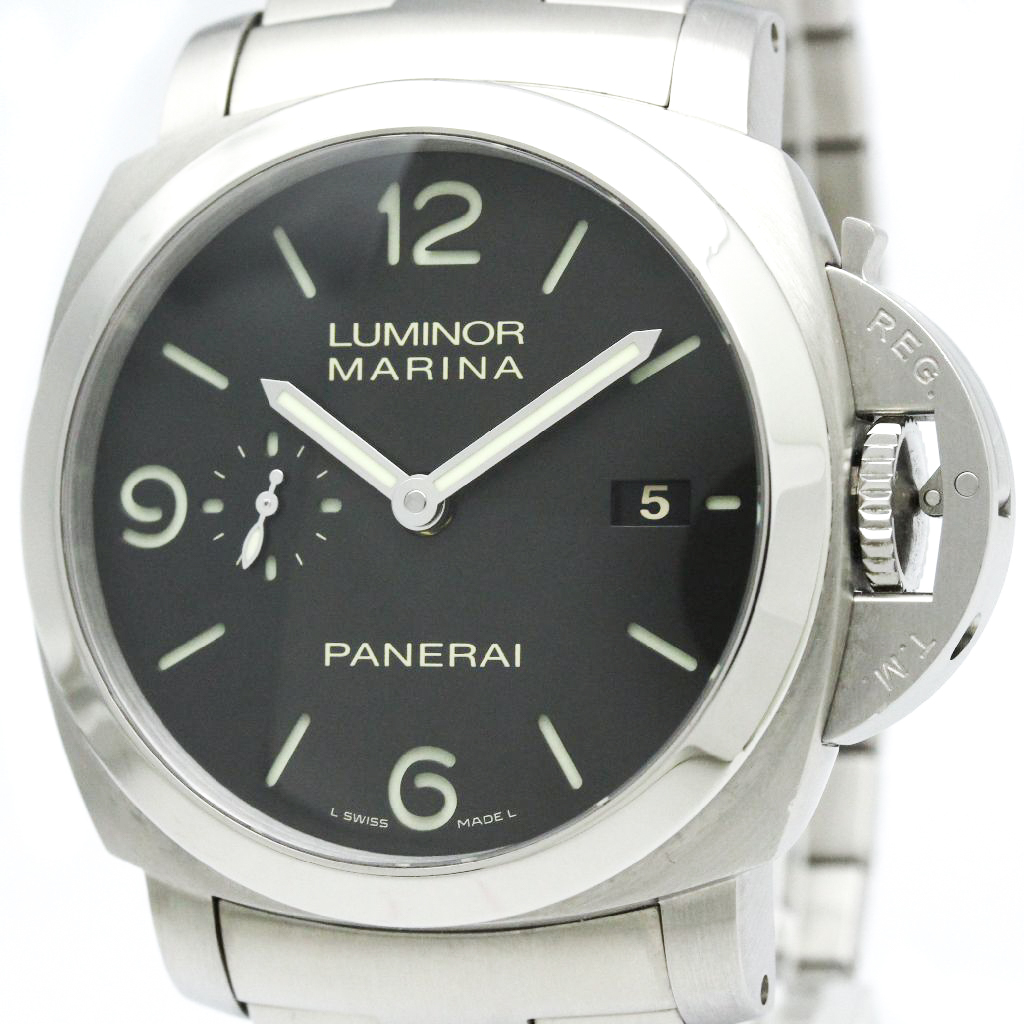 "Image of ""Panerai Luminor Pam00328 Stainless Steel 44mm Mens Watch"""