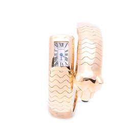 Cartier Yellow Gold with White Dial Quartz Womens 13x21mm Watch
