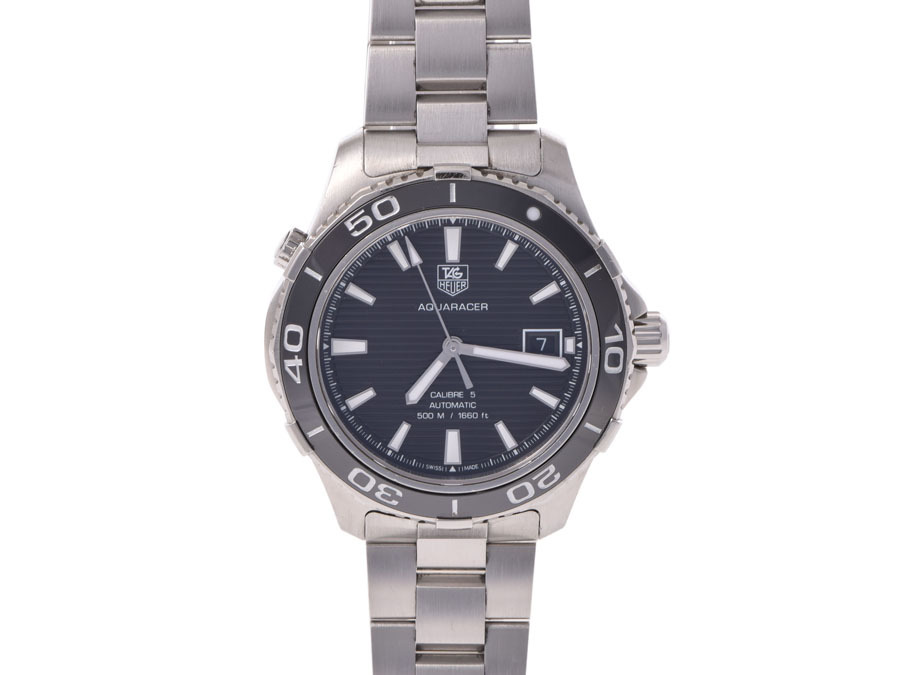 """Image of """"Tag Heuer Aquaracer WAK 2110 Stainless Steel 40mm Mens Watch"""""""