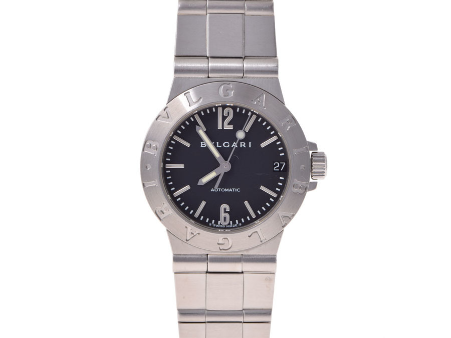 "Image of ""Bulgari Diagono Lcv29S Stainless Steel Automatic 29mm Womens Watch"""