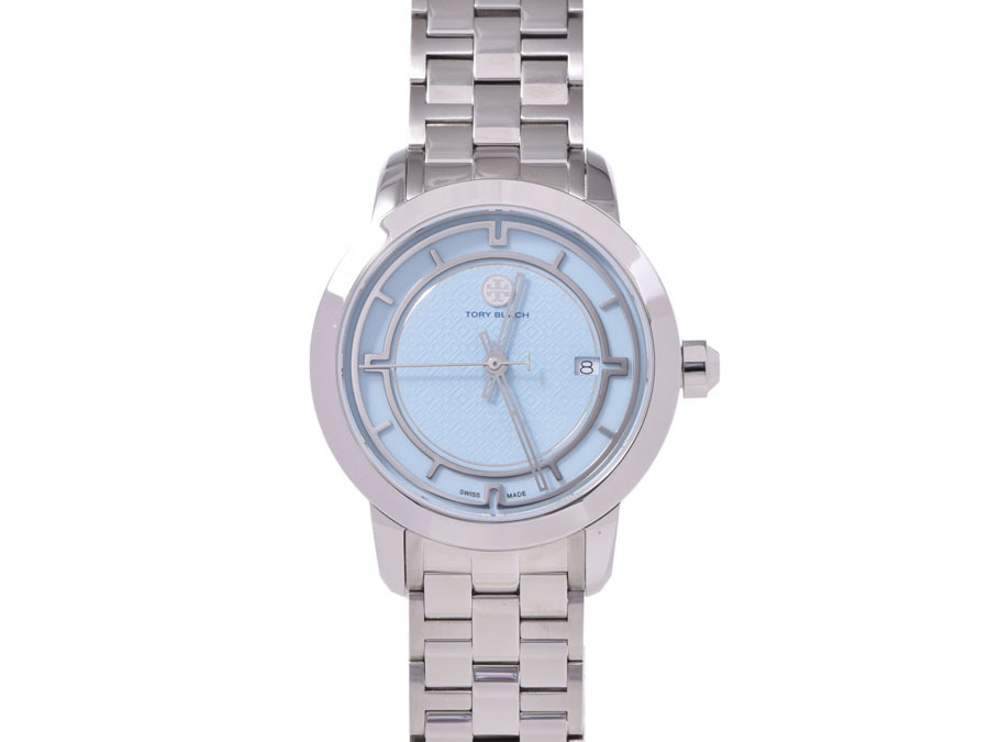 "Image of ""Tory Burch Stainless Steel with Blue Dial Quartz Womens 37mm Watch"""