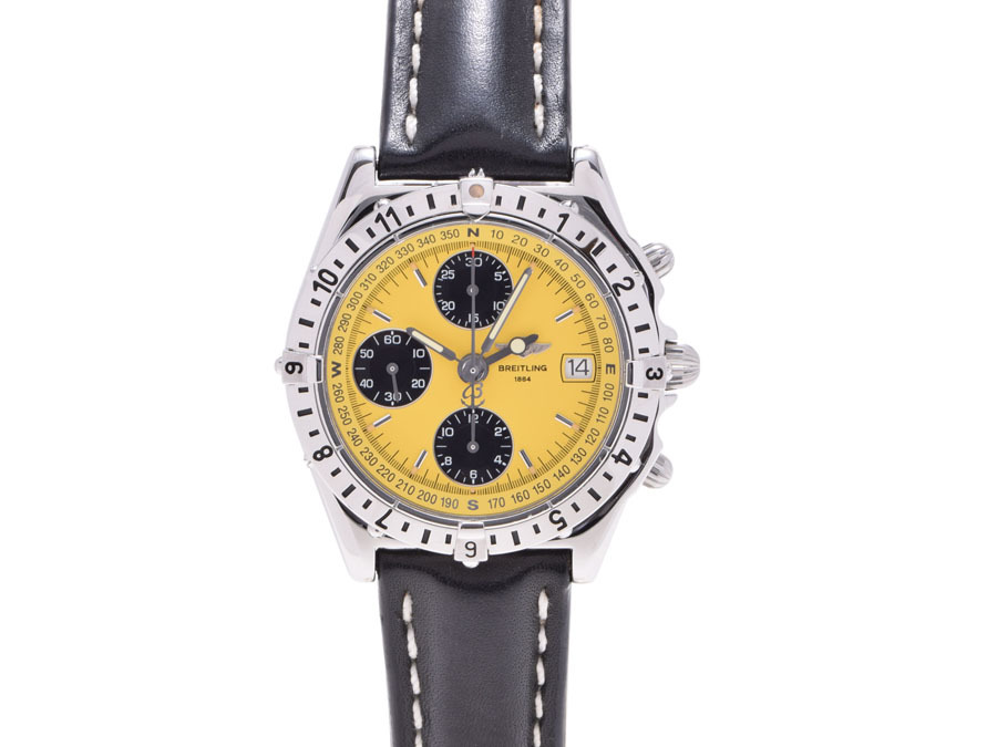 """Image of """"Breitling Chronomat A 20048 Stainless Steel / Leather Automatic Mens"""""""