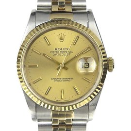 Rolex Datejust 16233 18K Gold and Stainless Steel Automatic 35mm Mens Watch
