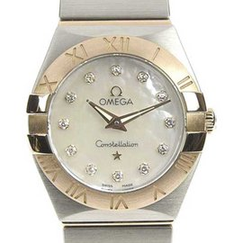 Omega Constellation 123.20.24.60.55.001 Two Tone Stainless Steel Quartz 24mm Womens Watch