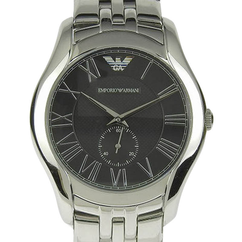 "Image of ""Emporio Armani Ar-1706 Stainless Steel Black Dial Quartz 41mm Mens"""