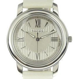 Tiffany & Co. Mark Z0046.17.10B91A40A Stainless Steel & Leather Quartz 36mm Unisex Watch