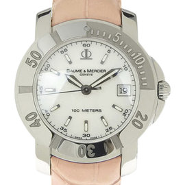 Baume & Mercier Stainless Steel & Leather 37mm Womens Watch