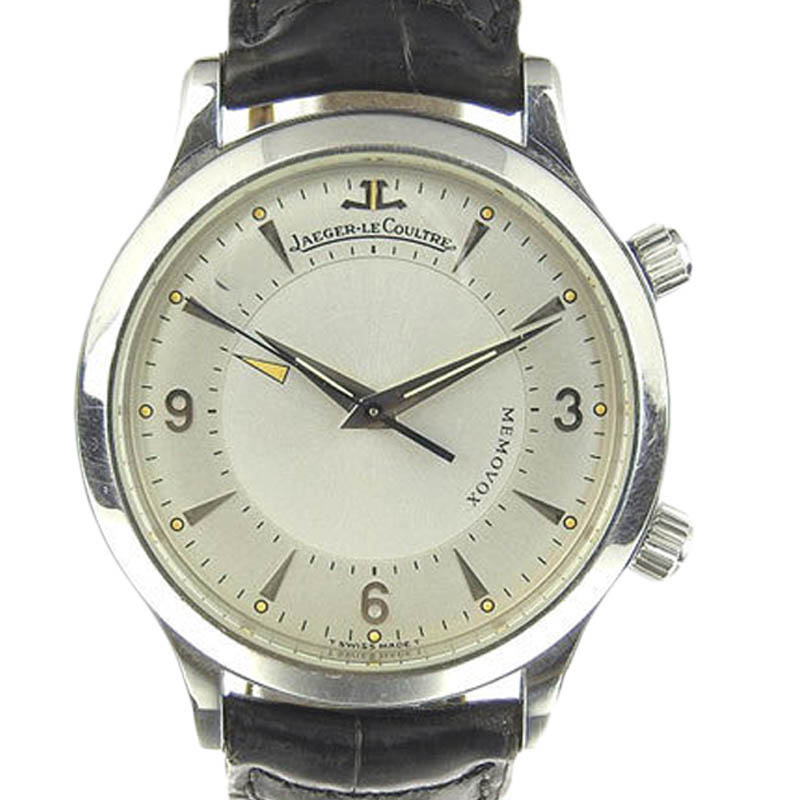 "Image of ""Jaeger Lecoultre 144.8.94 Stainless Steel & Leather Manual 35mm Mens"""
