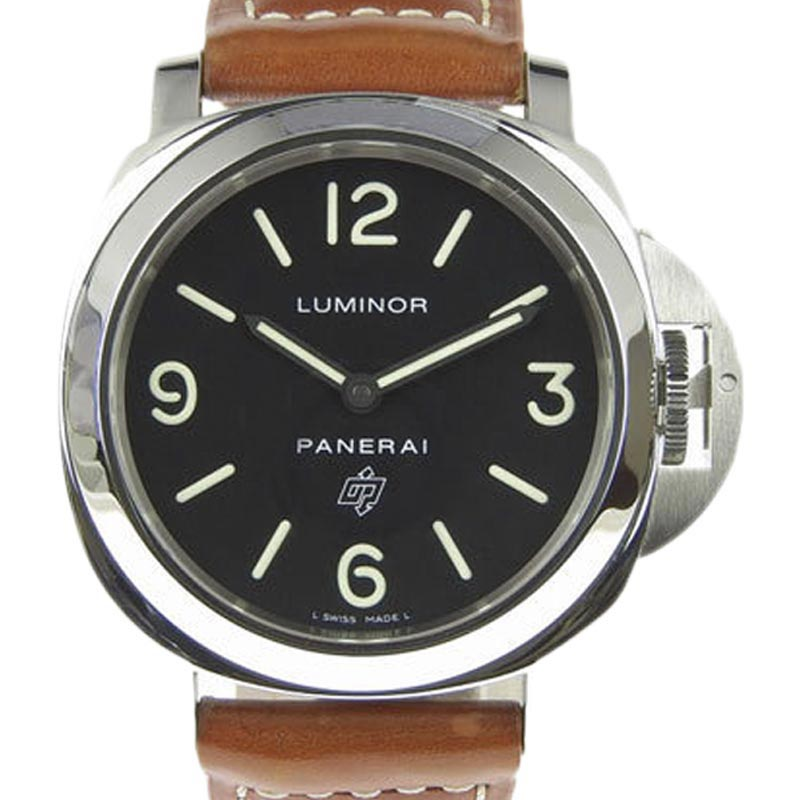 "Image of ""Panerai Luminor Base Pam00000 Stainless Steel & Leather Hand-Wind 45mm"""