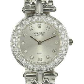 Van Cleef & Arpels 33607 18K White Gold 25mm Womens Watch