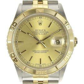 Rolex Datejust 16263 K Stainless Steel & Yellow Gold Automatic 37mm Mens Watch