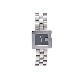Gucci 3600L Stainless Steel & Black Dial 23mm Womens Watch