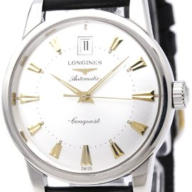 Longines Conquest L1.611.4 Stainless Steel and Leather Automatic 35mm Mens Watch
