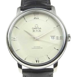 Omega Devil 424.13.40.20.02.001 Stainless Steel & Leather Silver Dial Automatic 38mm Mens Watch