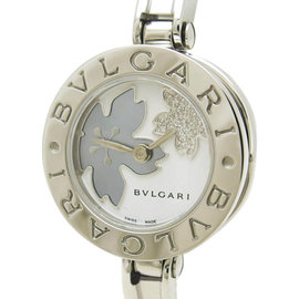 Bulgari B.Zero 1 BZ22FDSS Stainless Steel Blue Shell Quartz 22mm Womens Flower Motif Watch