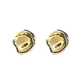 Tiffany and Co. 18K Yellow Gold Bean Nugget Clip On Earrings