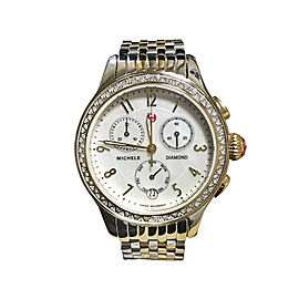 Michele Diamond Two Tone Watch