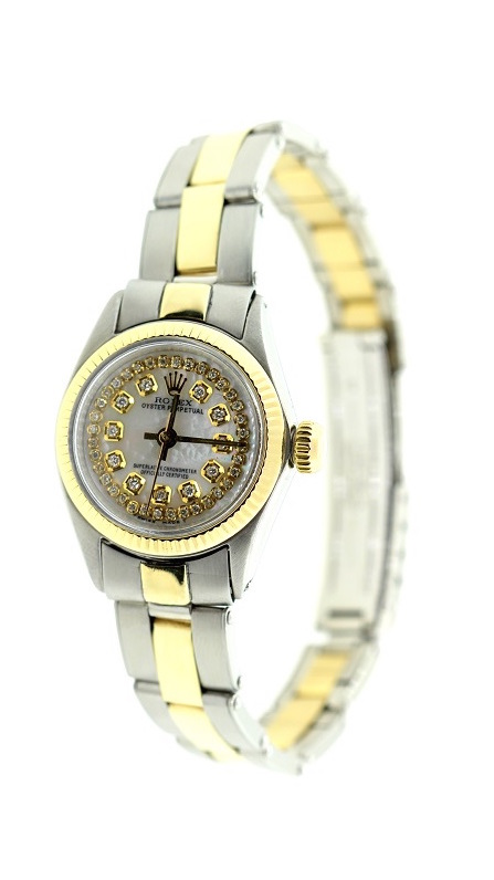 """Image of """"Rolex Two-Tone 18K Yellow Gold & Stainless Steel Oyster Perpstual 24mm"""""""