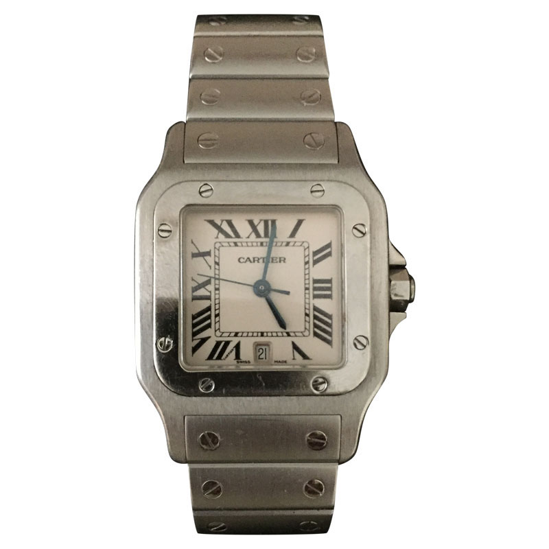"""Image of """"Cartier Santos 1564 Stainless Steel 31.75mm Watch"""""""
