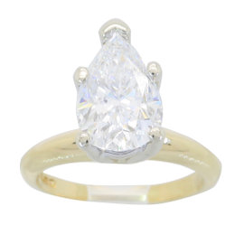 Pear Shaped 2.0ct Diamond Solitaire
