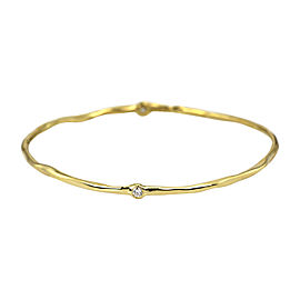 Ippolita 18K Yellow Gold & 0.25ct Diamond Bangle
