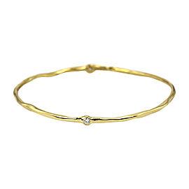 Ippolita 18K Yellow Gold & 0.25ct Diamond Bangle