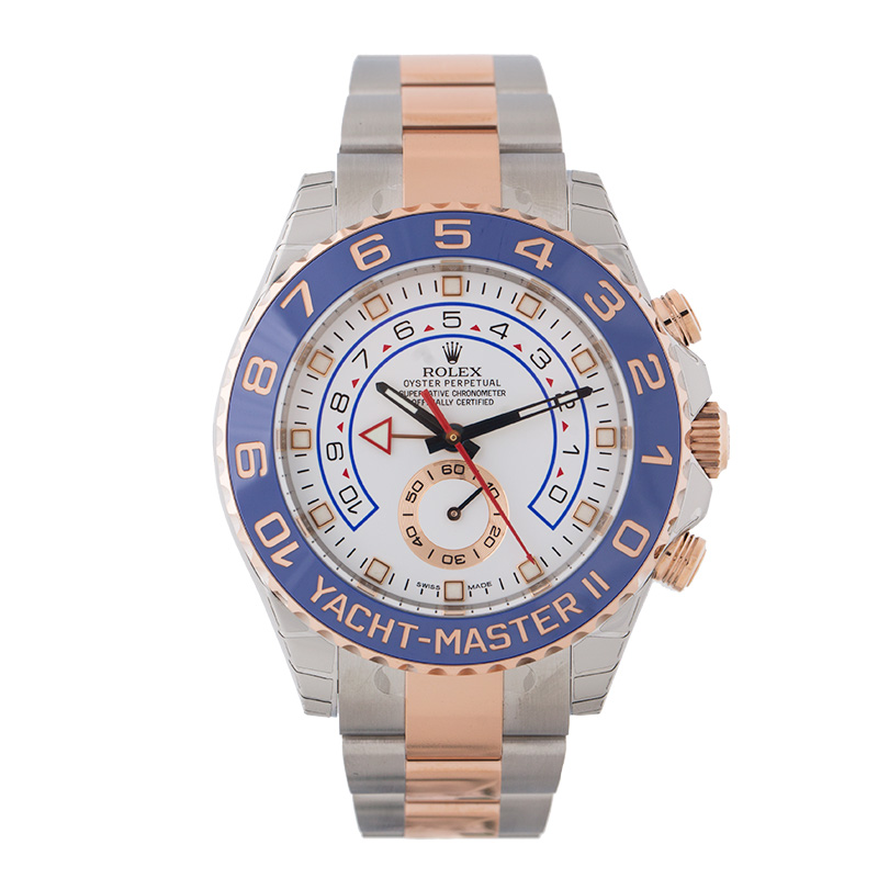 "Image of ""Rolex Yacht-Master II 116681 Steel/Pink Gold 44mm Watch"""