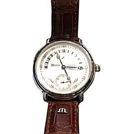 Maurice Lacroix Masterpiece Jour et Nuit Leather 43mm Watch