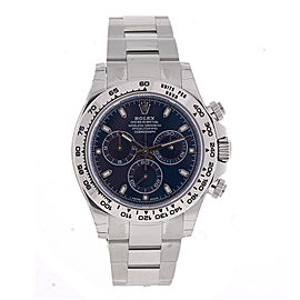 Rolex Cosmograph Daytona 116509 BLSO Blue Dial 18K White Gold Oyster Men's Watch