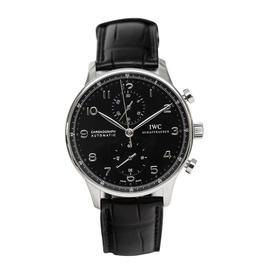 IWC Portuguese IW371447 Automatic Chronograph Black Dial Men's Watch